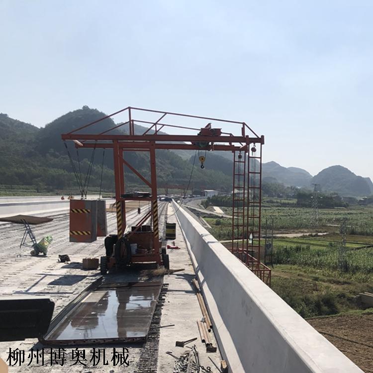 高速路防撞墙模板施工台车